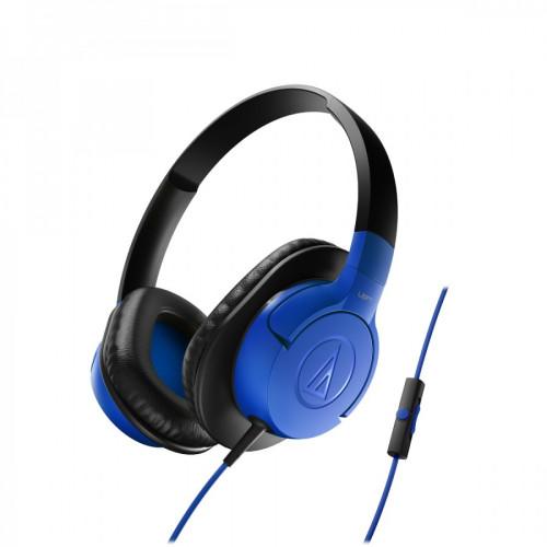 Audio Technica ATH-AX1IS portable hoofdtelefoon blauw