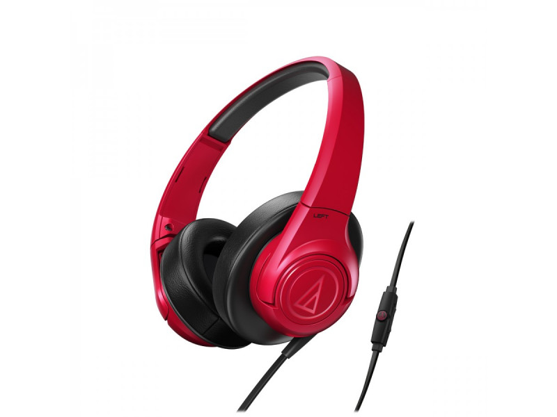 Audio Technica ATH-AX3IS portable hoofdtelefoon rood