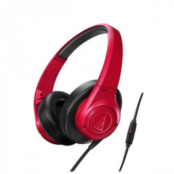 Audio Technica ATH-AX3IS portable hoofdtelefoon rood