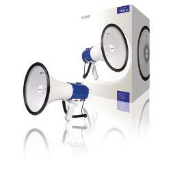 Sweex SWMEGA25 Megafoon Ontkoppelbare Microfoon Wit/Blauw