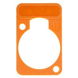 Neutrik DSS-3 Colour-coded marking plate Oranje