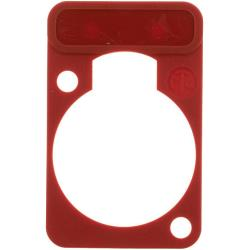 Neutrik DSS-2 Colour-coded marking plate Rood