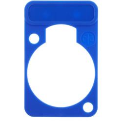 Neutrik DSS-6 Colour-coded marking plate Blauw