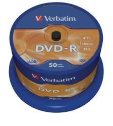 Verbatim 43548 DVD-R Matt Silver