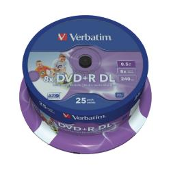 Verbatim  DVD+R Double Layer Inkjet Printable 8x