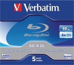 Verbatim 43748 BD-R DL 50GB* 6x 5 Pack Jewel Case