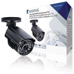 König SAS-CAM1100 Bullet Beveiligingscamera 700 TVL IP66 Zwart