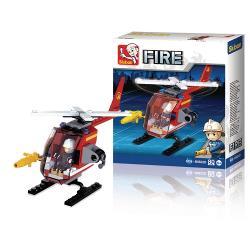 Sluban M38-B0622D Bouwstenen Fire Serie Helikopter