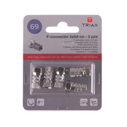 Triax 153254 Antenne Adapter F-Connector Female - F-Connector Male Aluminium