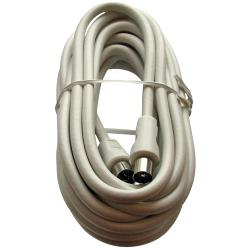 Triax 153502 Coaxkabel Coax Male (IEC) - Coax Female (IEC) 5 m Wit