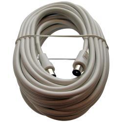 Triax 153504 Coaxkabel Coax Male (IEC) - Coax Female (IEC) 10 m Wit