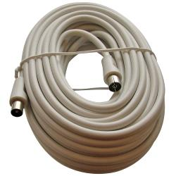 Triax 153505 Coaxkabel Coax Male (IEC) - Coax Female (IEC) 15 m Wit