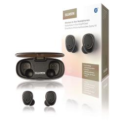Sweex SWTWS01B Headset Draadloos Bluetooth Ingebouwde Microfoon Zwart/Zilver
