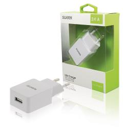 CH-019WH Lader 1 - Uitgang 2.4 A USB Wit