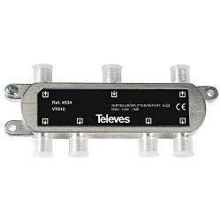 Televés 3144534 CATV-Splitter 10 dB / 5-1000 MHz - 6 Uitgangen