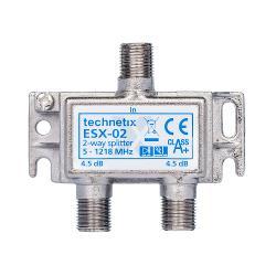 Technetix 11200301 Satelliet Splitter Coax / 5-1218 MHz - 2 Uitgangen
