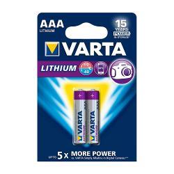 Varta 6103.301.402 Lithium Batterij AAA 2-Blisterkaart