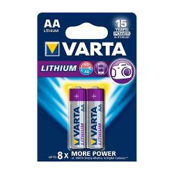 Varta 6106.301.402 Lithium Batterij AA 2-Blisterkaart