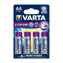 Varta 6106.301.404 Lithium Batterij AA-Blisterkaart