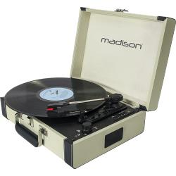 Madison MAD-RETROCASE-CR Vintage draaitafelkoffer met bluetooth, usb, sd & rec functie (0)