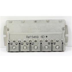 Televés 3135439 Satelliet Splitter F-Connector 14 dB / 5-2400 MHz - 6 Uitgangen