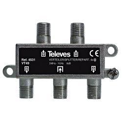 Televés 3144531 CATV-Splitter 8 dB / 5-1000 MHz - 4 Uitgangen
