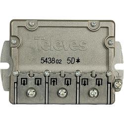 Televés 3145438 Satelliet Splitter F-Connector 9.5 dB / 5-2400 MHz - 5 Uitgangen