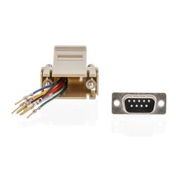 Valueline VLCP52821I Seriële Adapter SUB-D 9-Pins Male - RJ45 (8/8) Female Ivoor