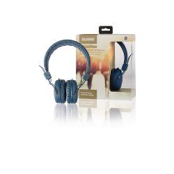 Sweex SWHPBT100L Hoofdtelefoon On-Ear Bluetooth 1.00 m Blauw