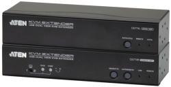 Aten CE774 KVM Extender Dual View, USB, Audio, RS232 150 m