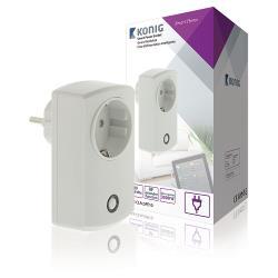 König SAS-CLALSPE10 Smart Home Plug-In Stopcontact - Schuko / Type F (CEE 7/7)