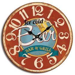 Balance 596831 Wandklok 40 cm Analoog Rood