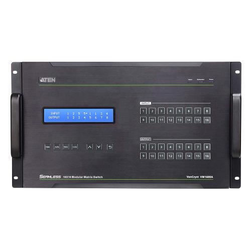 VM1600A-AT-G 16 x 16-Poorts HDMI Matrix Zwart