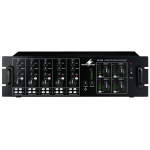 Monacor PA-4040 4-zone rack mixer 4x 40W 100V