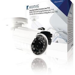König SAS-CAM1110 Bullet Beveiligingscamera 700 TVL IP66 Wit