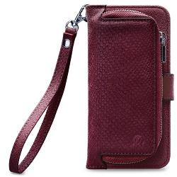 Mobilize 24240 Smartphone Gelly Wallet Zipper Case Samsung Galaxy A8 2018 Rood
