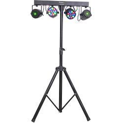 Ibiza Light DJLIGHT65 Licht standaard met 2 rgbw par cans + 2 rood-groene laser (0)
