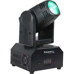 Ibiza Light LMH250-RC 10w rgbw led beam moving head met dmx en afstandsbediening (0)