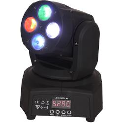 Ibiza Light LMH350RGBW-MINI Dmx bestuurde 4x rgbw led 'wash' moving head (1)