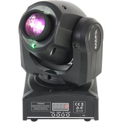Ibiza Light PLUTON10-LZR Led 'spot' moving head 12w met groene laser 30mw (1)