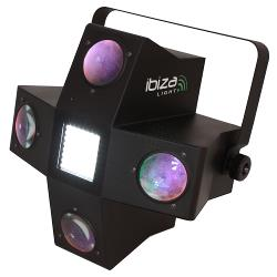 Ibiza Light LE4LED-STROBE 4-eyes rgbgw led lichteffect met stroboscoop (1)