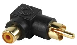 Valueline AC-054 Adapter plug RCA stekker - RCA kontra stekker met vergulde kontakten in haakse uitvoering