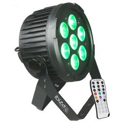 Ibiza Light PARLED712IR Dmx-bestuurde led par can met 7x 12w rgbwa-uv led's 6-in-1 (1)