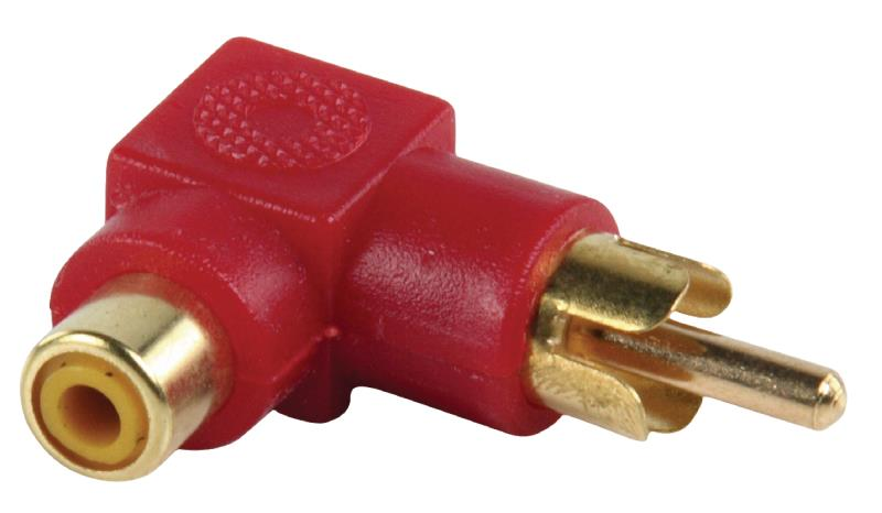 Valueline AC-055 Adapter plug RCA stekker - RCA kontra stekker met vergulde kontakten in haakse uitvoering