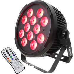 Ibiza Light PARLED1212IR Dmx-bestuurde led par can met 12x 12w rgbwa-uv led's 6-in-1 (1)
