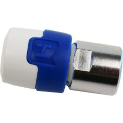 Hirschmann PQFC5 F-Connector Male/Male Aluminium/Blauw