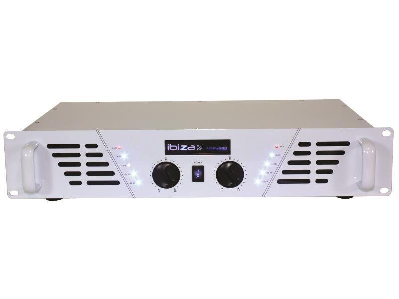 Ibiza Sound AMP600-WH Versterker 2 x 480w - wit (1)