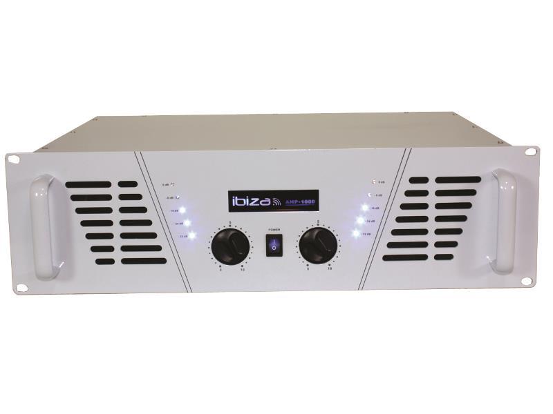 Ibiza Sound AMP1000-WH Disco versterker 2 x 800w - wit (1)