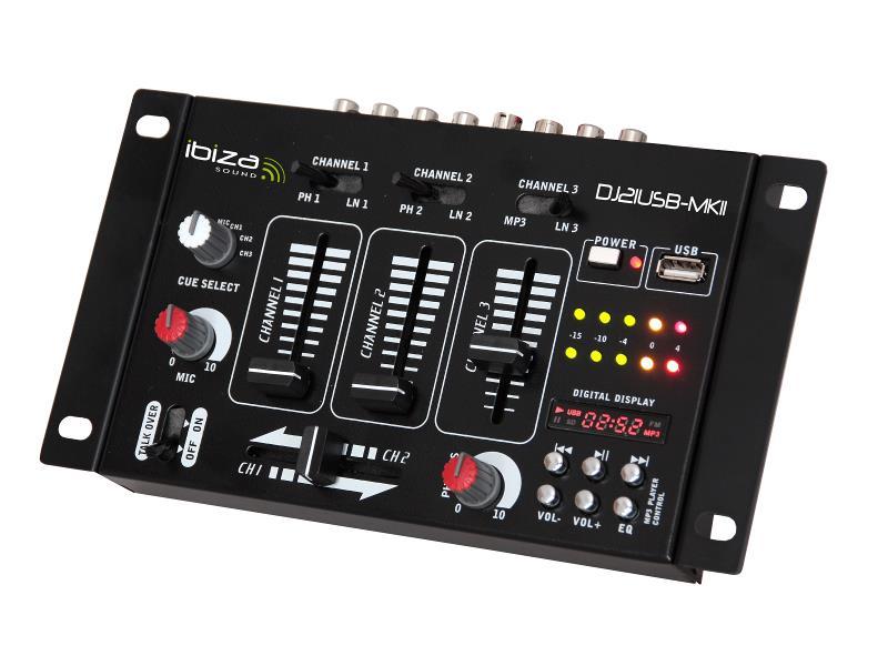 Ibiza Sound DJ21USB-MKII 4-kanalen / 7-ingangen mengpaneel + usb (1)