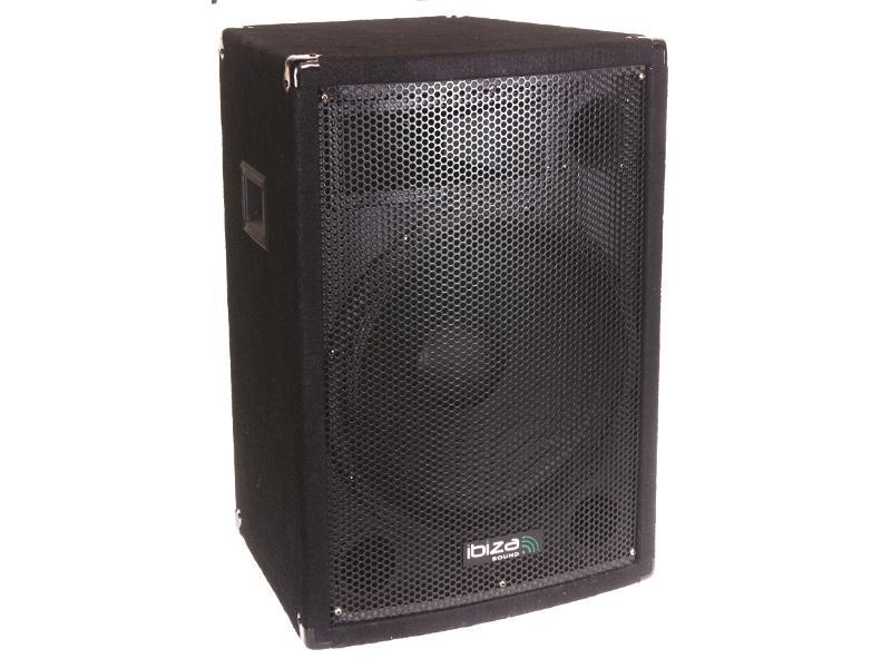 """Ibiza Sound DISCO12B Trapezevormige 3-weg luidsprekerbox 12""""/30cm 600w (1)"""